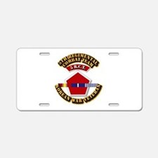 Army - 5th RCT - w Korean Svc Aluminum License Pla