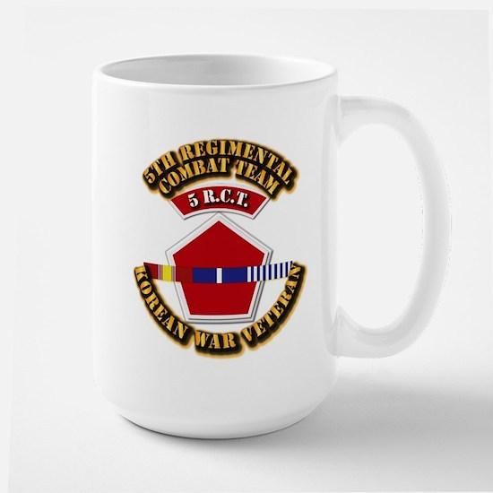 Army - 5th RCT - w Korean Svc Large Mug