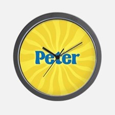 Peter Sunburst Wall Clock