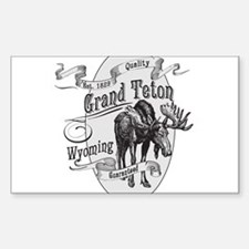 Grand Teton Vintage Moose Decal