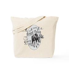 Grand Teton Vintage Moose Tote Bag