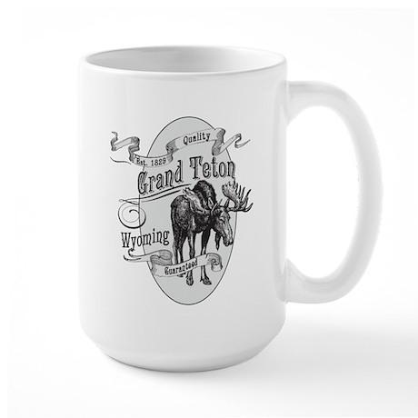 Grand Teton Vintage Moose Large Mug