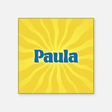 """Paula Sunburst Square Sticker 3"""" x 3"""""""