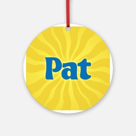 Pat Sunburst Ornament (Round)