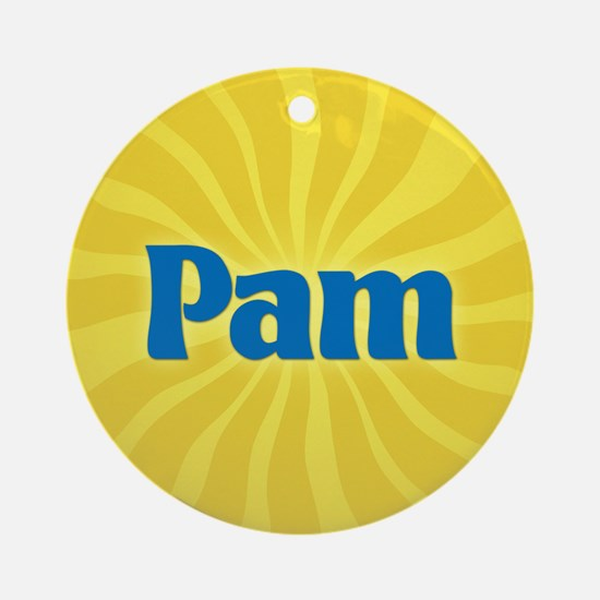 Pam Sunburst Ornament (Round)