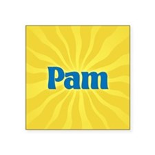 "Pam Sunburst Square Sticker 3"" x 3"""