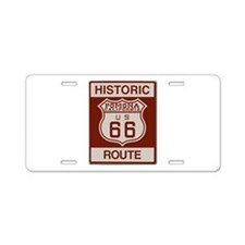 Pomona Route 66 Aluminum License Plate