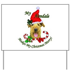 Airedale Terrier Christmas Yard Sign