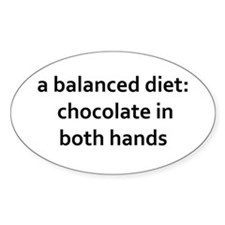 balanced diet: chocolate in both Decal