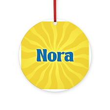 Nora Sunburst Ornament (Round)