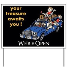 We're Open Yard Sign