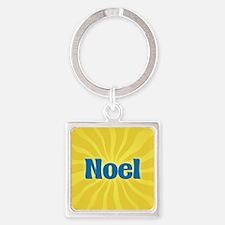 Noel Sunburst Square Keychain