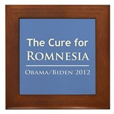 Obama is the Cure for Romnesia Framed Tile