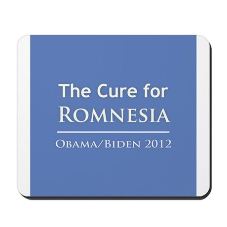 Obama is the Cure for Romnesia Mousepad