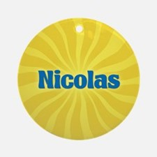 Nicolas Sunburst Ornament (Round)