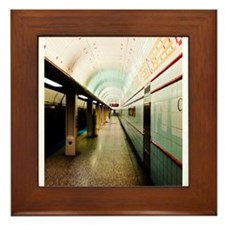 Chicago El Train Framed Tile