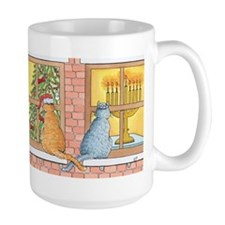 Chrismukkah Curious Cats Mug
