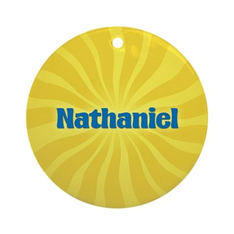 Nathaniel Sunburst Ornament (Round)