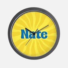 Nate Sunburst Wall Clock
