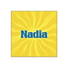 """Nadia Sunburst Square Sticker 3"""" x 3"""""""