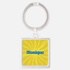 Monique Sunburst Square Keychain