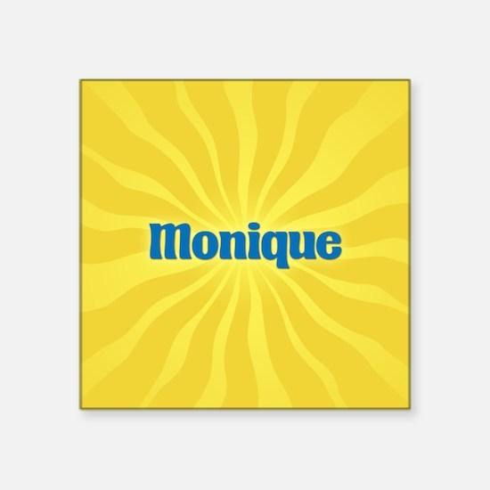 "Monique Sunburst Square Sticker 3"" x 3"""