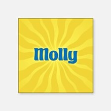 """Molly Sunburst Square Sticker 3"""" x 3"""""""