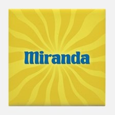 Miranda Sunburst Tile Coaster