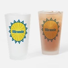Miranda Sunburst Drinking Glass