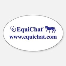 EquiChat.com Equestrian Oval Decal