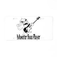 monster bass player Aluminum License Plate