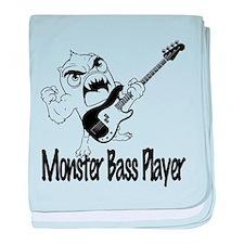 monster bass player baby blanket