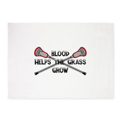 Lacrosse blood helps the grass grow 5'x7'Area Rug