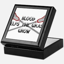 Lacrosse blood helps the grass grow Keepsake Box
