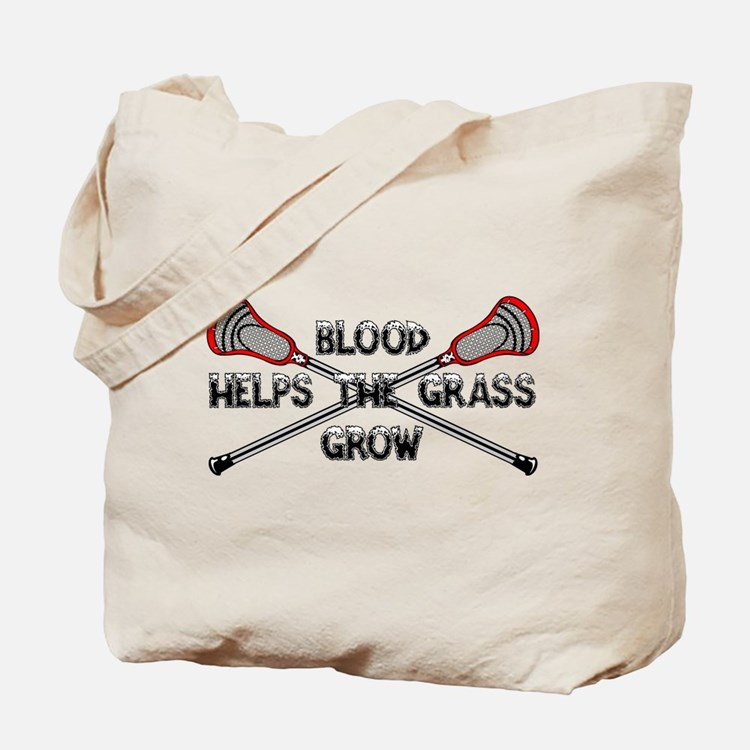 Lacrosse blood helps the grass grow Tote Bag