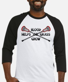 Lacrosse blood helps the grass gro Baseball Jersey