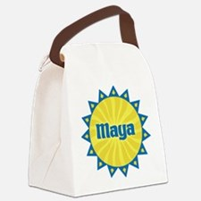 Maya Sunburst Canvas Lunch Bag
