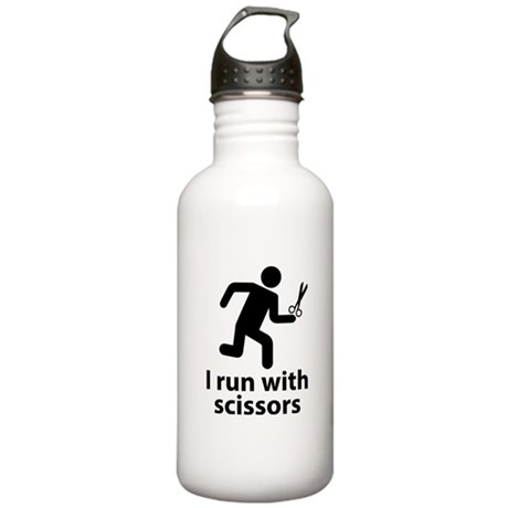 I run with scissors Stainless Water Bottle 1.0L