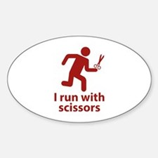 I run with scissors Decal