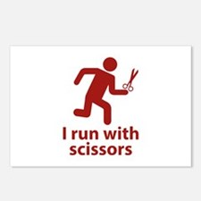 I run with scissors Postcards (Package of 8)