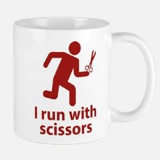 I run with scissors Mug