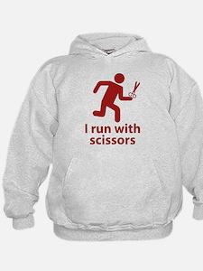 I run with scissors Hoodie