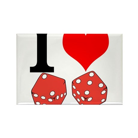 I Love to Gamble Rectangle Magnet (10 pack)