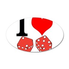 I Love to Gamble Wall Decal