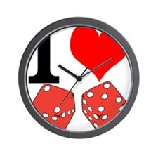I Love to Gamble Wall Clock