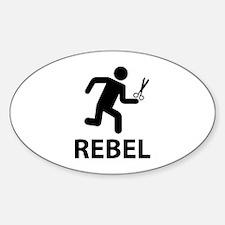 REBEL Sticker (Oval)