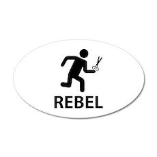 REBEL 22x14 Oval Wall Peel