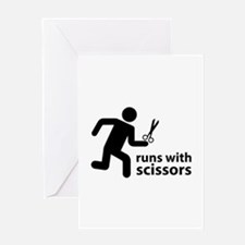 runs with scissors Greeting Card