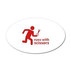 runs with scissors 22x14 Oval Wall Peel