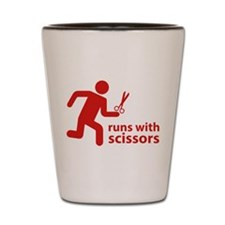 runs with scissors Shot Glass